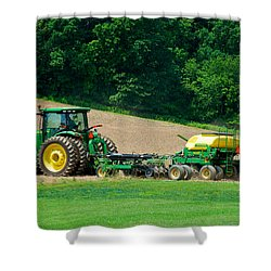 Farming The Field Shower Curtain by Mark Dodd
