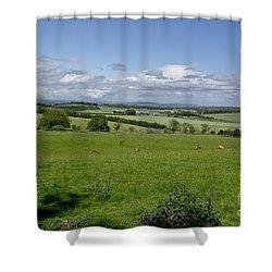 Farmland In Beecraigs. Shower Curtain