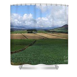 Farmland Near Rhynie, Aberdeenshire Shower Curtain