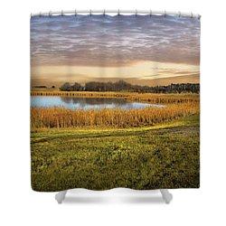 Farmland Pond Shower Curtain