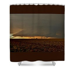 Shower Curtain featuring the photograph Farmland Supercell by Ed Sweeney