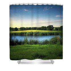 Farmland Waters Shower Curtain