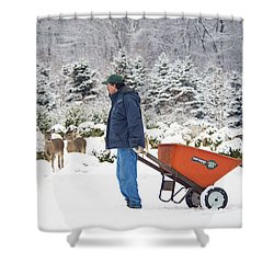Shower Curtain featuring the photograph Farmlife by Angel Cher