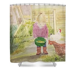 Farm's Life  Shower Curtain by Annie Poitras