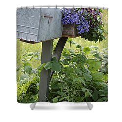 Farm's Mailbox Shower Curtain