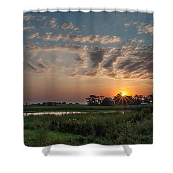 Farmstead Sunrise Shower Curtain