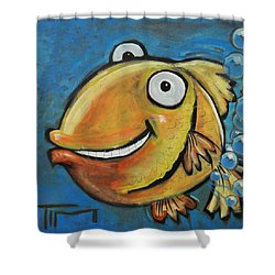 Farting Fish Shower Curtain