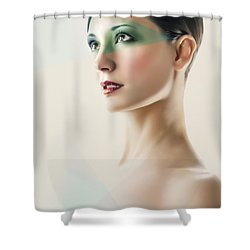 Shower Curtain featuring the photograph Fashion Beauty Portrait by Dimitar Hristov