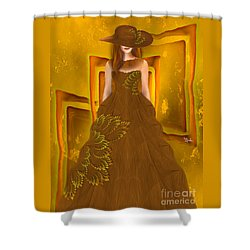 Fashion Design Art - Autumn Ball Gown By Rgiada Shower Curtain