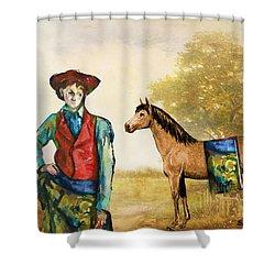 Fashionably Western Shower Curtain