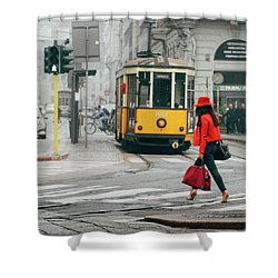 Fashionista In Milan, Italy Shower Curtain