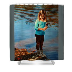 Fast Friends Shower Curtain by Glenn Beasley