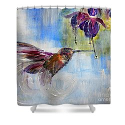 Fast Fuchsia Checkout Shower Curtain by Lisa Kaiser