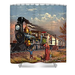 Fast Mail 1875 Shower Curtain by Padre Art