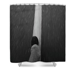 Fast Steppin Shower Curtain by Karol Livote