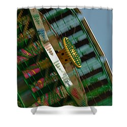 Shower Curtain featuring the photograph Faster And Faster We Go by Ramona Whiteaker
