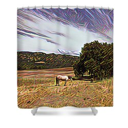Fat Camp Grazing Shower Curtain