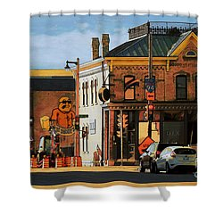 Fat Daddy's Shower Curtain by David Blank