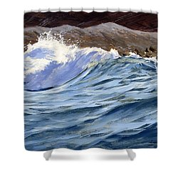 Fat Wave Shower Curtain