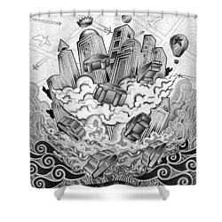 Fata Morgana Shower Curtain