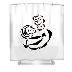 Father And Child Shower Curtain