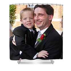 Father And Son Shower Curtain by Adam Cornelison
