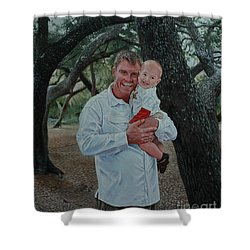 Father And Son Shower Curtain by Michael Nowak
