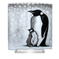 Father And Son Shower Curtain by Paul Powis