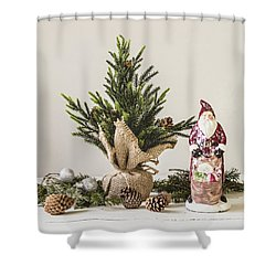 Shower Curtain featuring the photograph Father Christmas by Kim Hojnacki