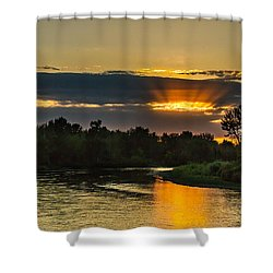 Father's Day Sunset Shower Curtain