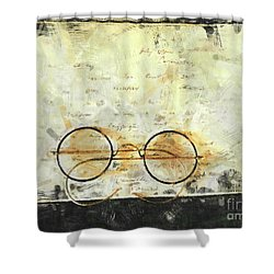 Shower Curtain featuring the photograph Father's Glasses by Claire Bull