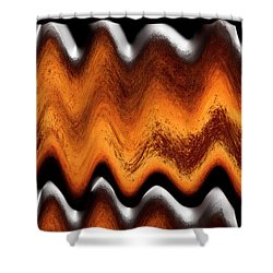 Fault Finding Shower Curtain by Kellice Swaggerty