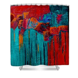 Waterfall Shower Curtain by Nancy Jolley