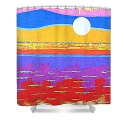 Fauvist Sunset Shower Curtain by Jeremy Aiyadurai