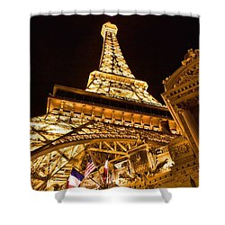 Shower Curtain featuring the photograph Faux Eiffel by Kim Wilson