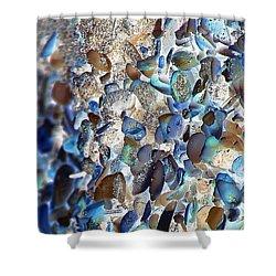 Faux Sea Glass Shower Curtain