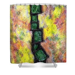 Faux Tile Two Shower Curtain by Wayne Potrafka