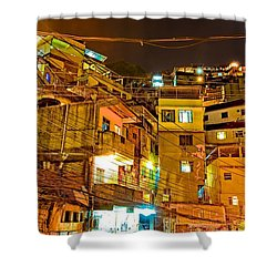 Shower Curtain featuring the photograph Favela Night by Kim Wilson