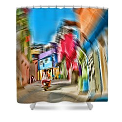 Shower Curtain featuring the photograph Favela Vortex by Kim Wilson