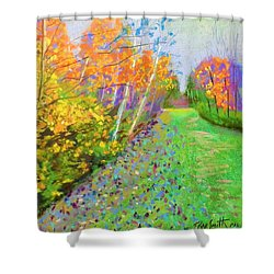 Favorite Fall Scene Shower Curtain by Rae  Smith