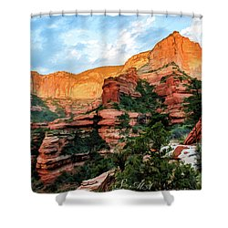 Fay Canyon 07-053 Shower Curtain by Scott McAllister