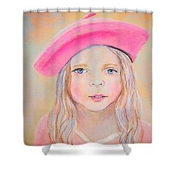 Fayanna Little French Angel Of Trust Shower Curtain by The Art With A Heart By Charlotte Phillips