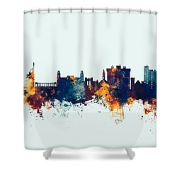 Fayetteville Arkansas Skyline Shower Curtain