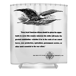 Fdr War Quote Shower Curtain