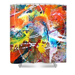 Fear Of Flying Shower Curtain by Pearlie Taylor