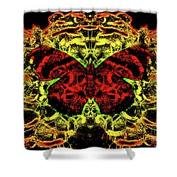 Fear Of The Red Admirals Shower Curtain
