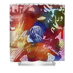 Fearless Girl Wall Street Shower Curtain by Dan Sproul