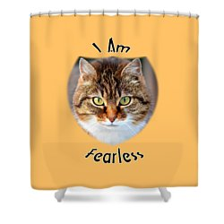 Fearless Shower Curtain by Judi Saunders