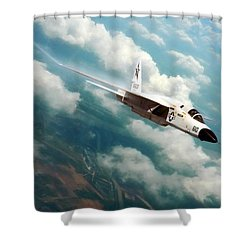 Fearless Ra-5c Vigilante Shower Curtain by Peter Chilelli