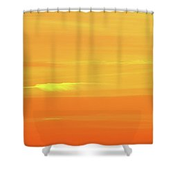Feather Cloud In An Orange Sky  Shower Curtain by Lyle Crump
